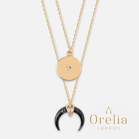 Orelia LONDON  大理石黑鍍金雙層項鍊