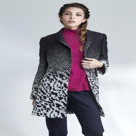 盈樺   豹紋提花長外套