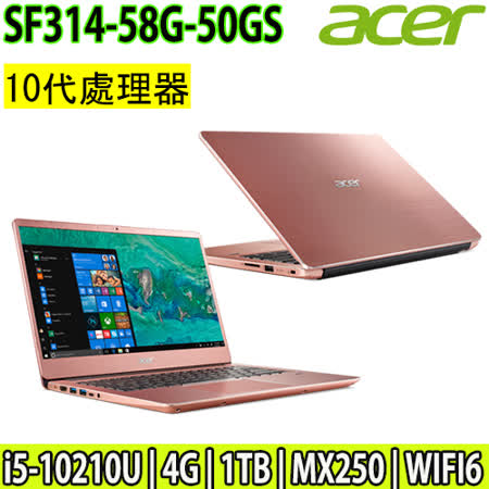 ACER SF輕薄/10代i5 1T/2G獨顯筆電