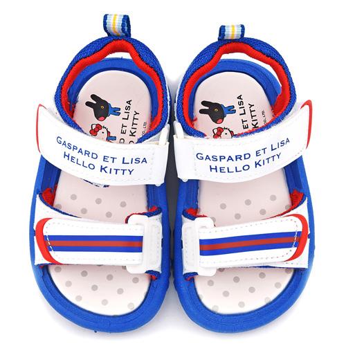 童鞋城堡-麗莎與卡斯伯xKitty 中童 清新簡約款涼鞋GK4002-白