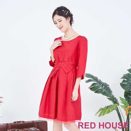 RED HOUSE 蕾赫斯 蝴蝶結洋裝(紅色)