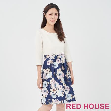 RED HOUSE  素面花朵洋裝
