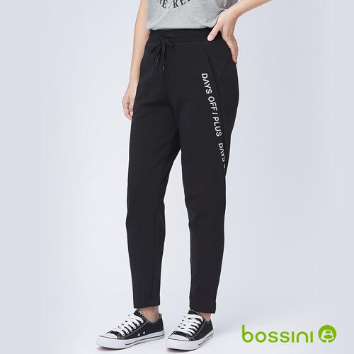 bossini女裝-針織長褲黑