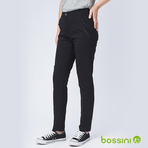 bossini女裝-彈性輕便刷毛保暖褲01黑