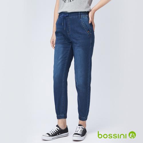 bossini女裝-束口牛仔褲藍色