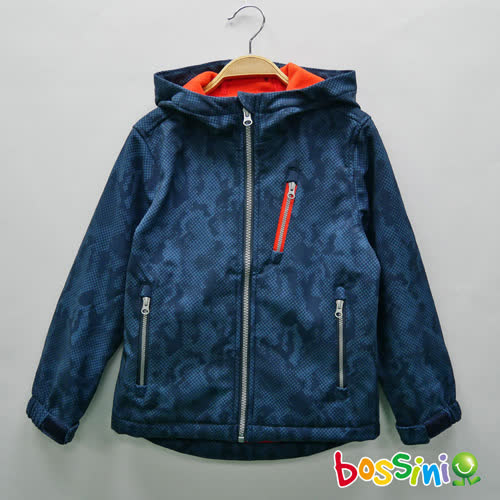 bossini男童-機能複合外套海軍藍