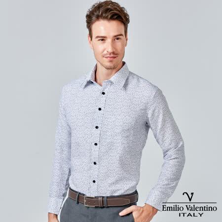 Emilio Valentino 范倫提諾印花長袖襯衫-白