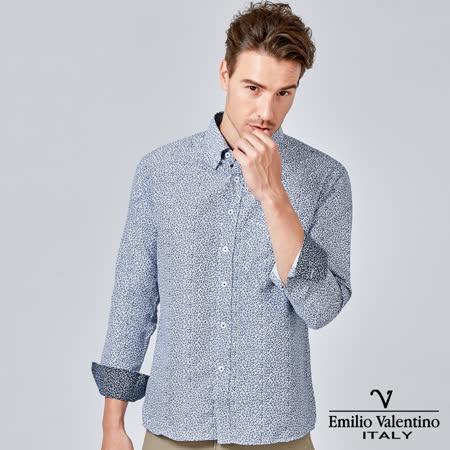 范倫提諾 印花長袖襯衫