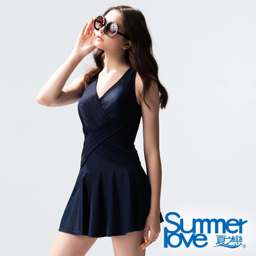 【SUMMERLOVE夏之戀】大女連身帶裙 E19707