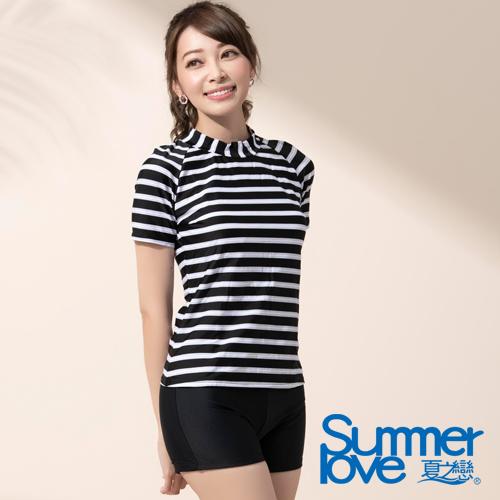 夏之戀SUMMERLOVE  大女短袖衝浪裝二件式 E17790