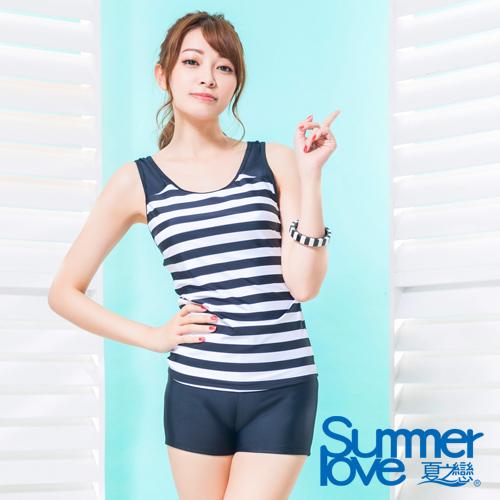 夏之戀SUMMERLOVE 大女長版二件式泳裝S16799