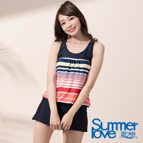 夏之戀SUMMERLOVE  大女連身褲二件式泳衣ES18734