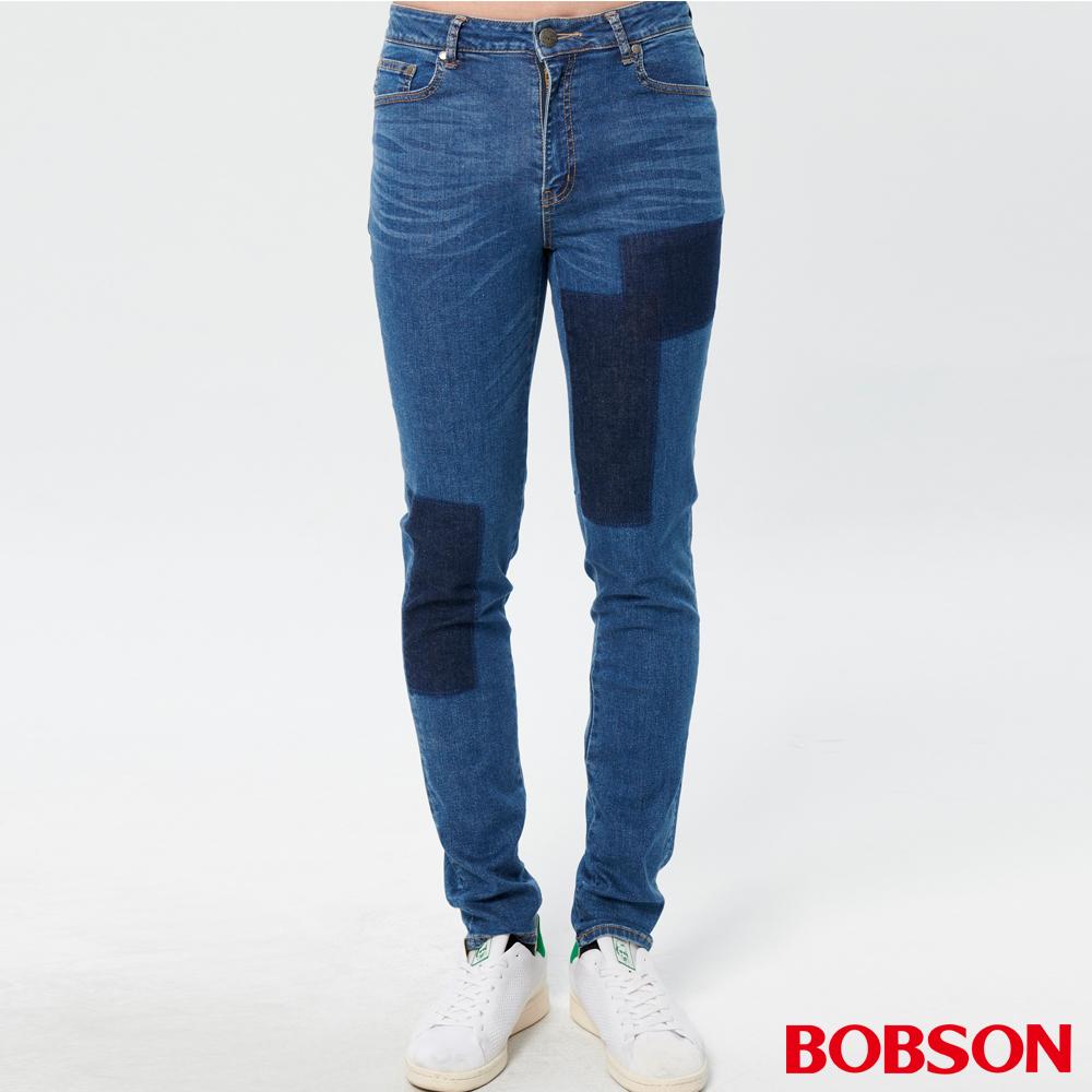 BOBSON 男款有機綿高腰窄管褲(1843-53   )