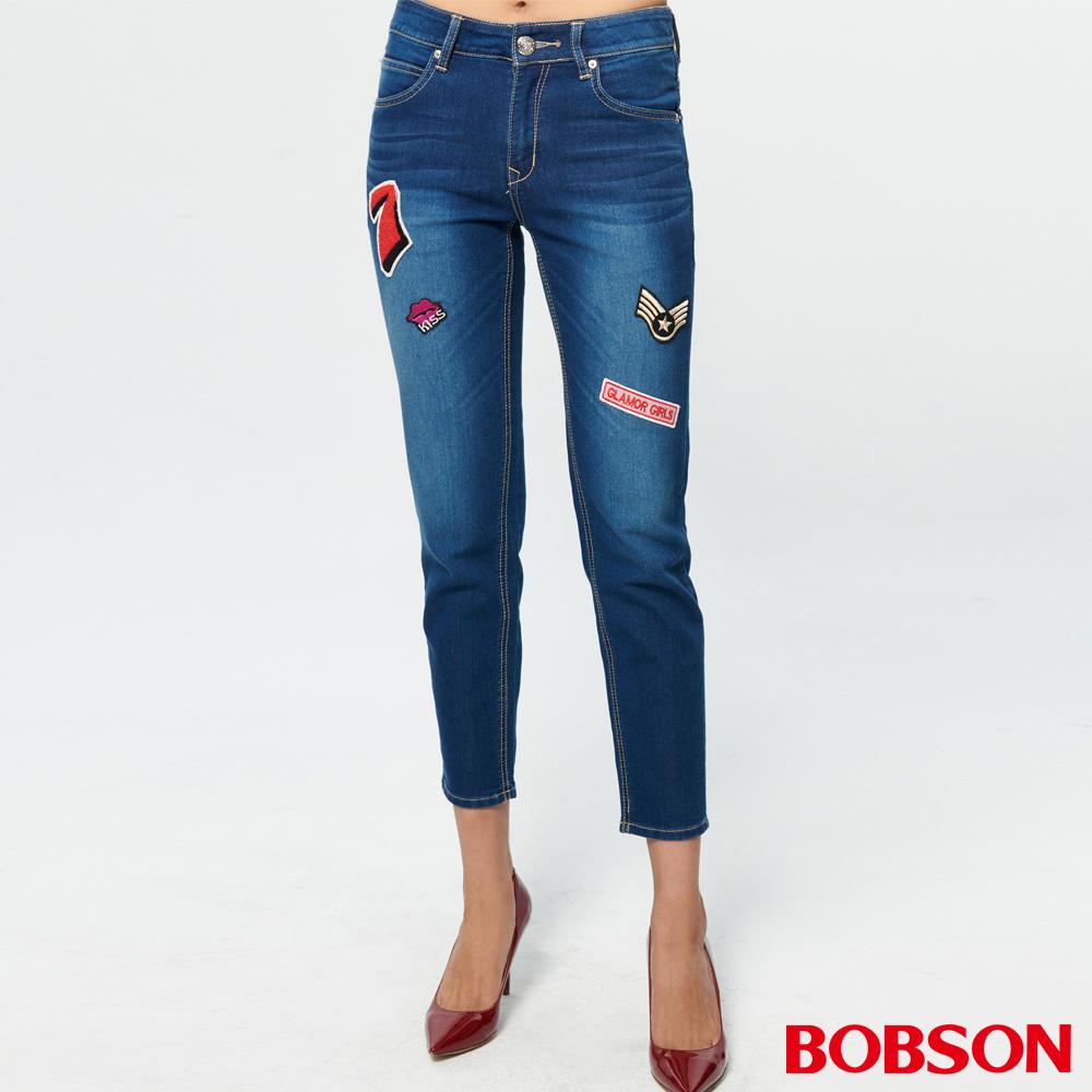 BOBSON 女款中腰針織女友褲(8170-53)