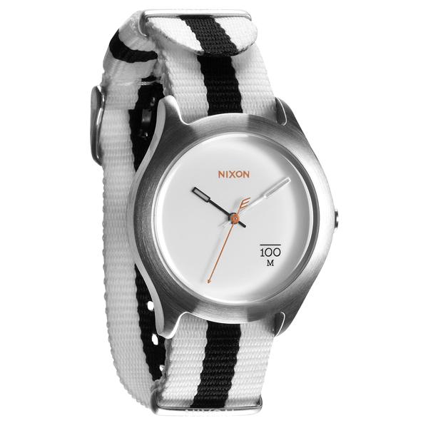 NIXON The QUAD 拼裝潮流都會休閒腕錶-白