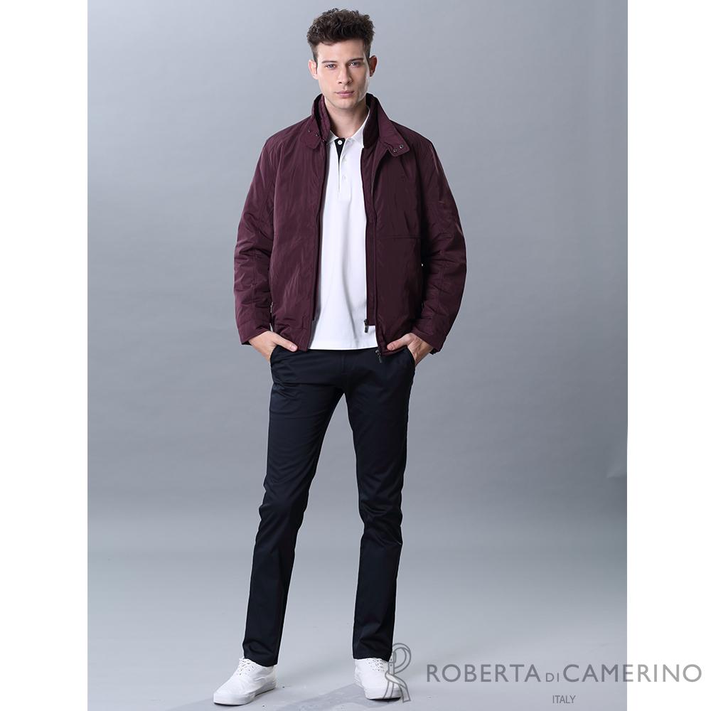 ROBERTA諾貝達 進口素材 防潑水 內裡舖棉夾克外套 暗紅