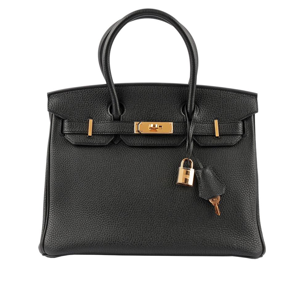 【HERMES】Togo皮 30cm 金釦 Birkin (黑色) HE12000199