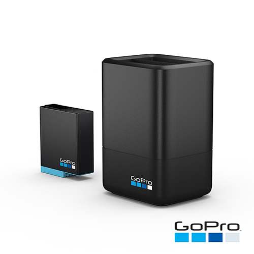 【GoPro】HERO6/7/8 Black雙電池充電器+電池 AJDBD-001(忠欣公司貨)