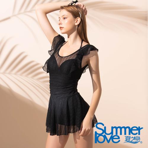 夏之戀SUMMERLOVE 大女連身帶裙泳衣E19717