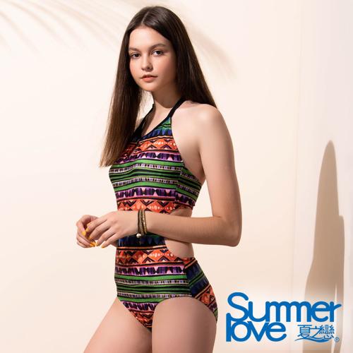 【夏之戀SUMMERLOVE】大女連身三角泳衣E19709