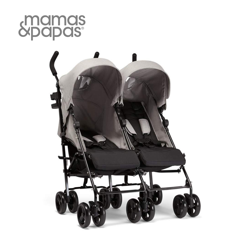 【Mamas & Papas】Cruise 雙人便攜傘車-淺泥灰