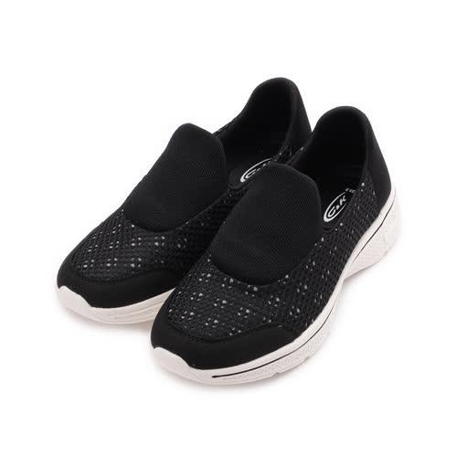 C&K 雙網套式輕量休閒鞋 黑 女鞋 鞋全家福