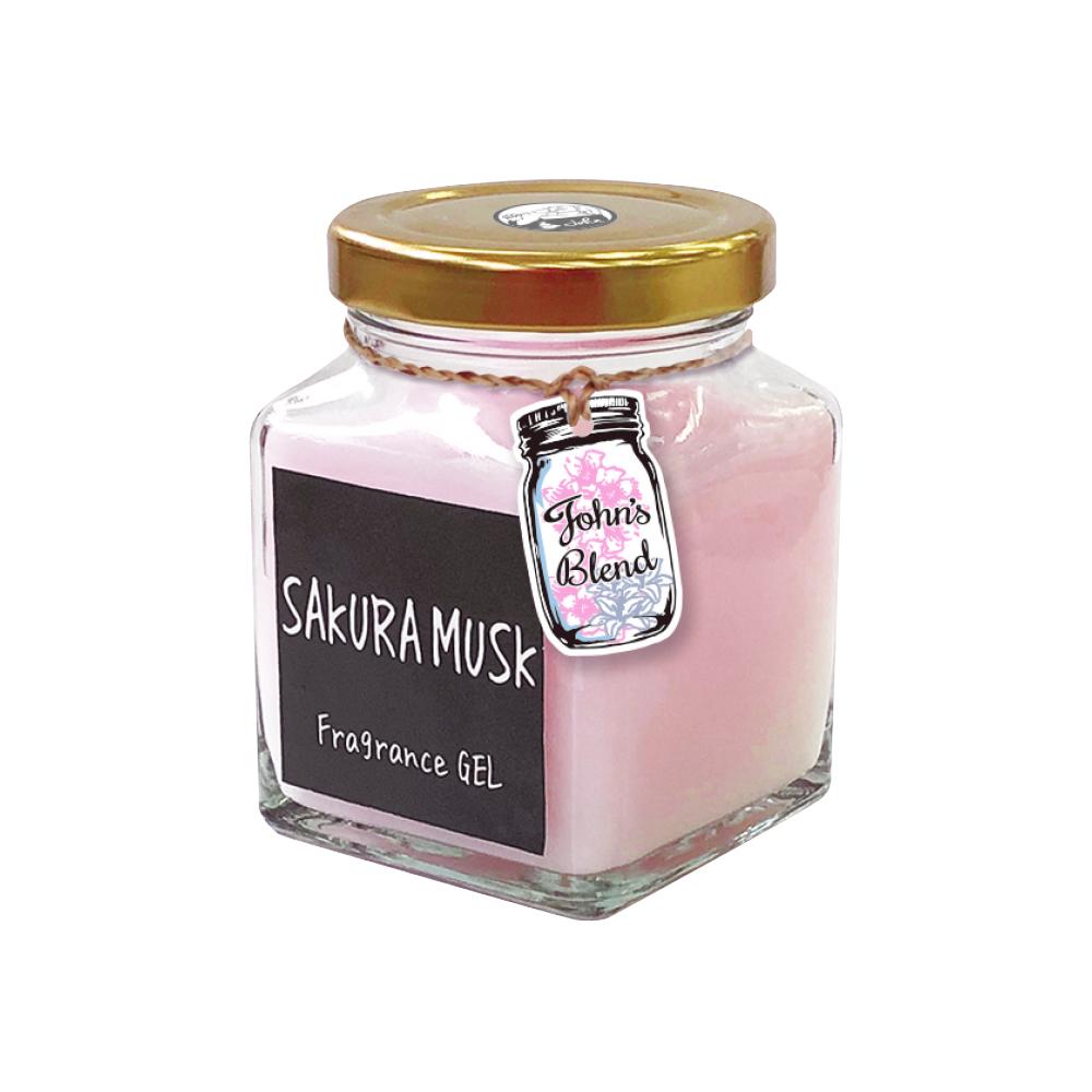 日本John′s Blend 室內香氛擴香膏(135g/瓶)(麝香櫻花SAKURA MUSK)