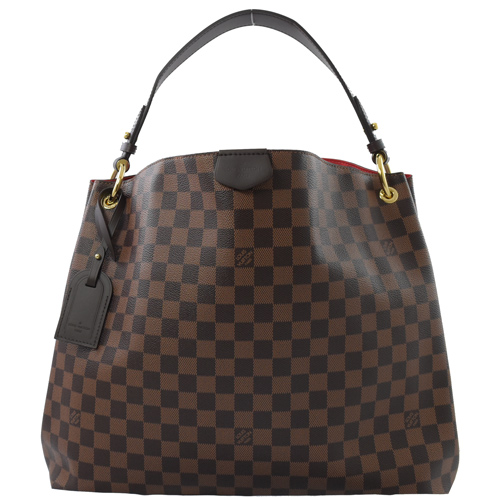 Louis Vuitton LV N44045 Graceful MM 棋盤格紋皮飾邊磁釦單肩背包_預購