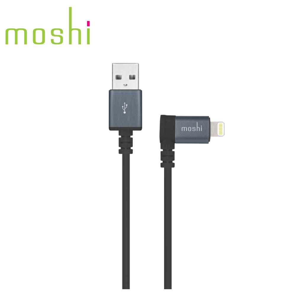 Moshi Lightning to USB 90° 彎頭傳輸線 黑色 (1.5m)