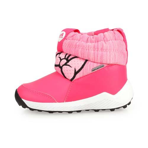 (童) ADIDAS RAPIDASNOW MINNIE I女小保暖短筒靴-鞋 愛迪達 桃紅粉黑