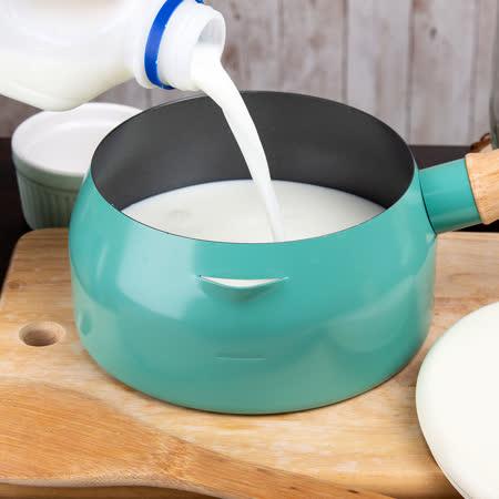 MolkPPot多用途 木柄附蓋牛奶鍋2入