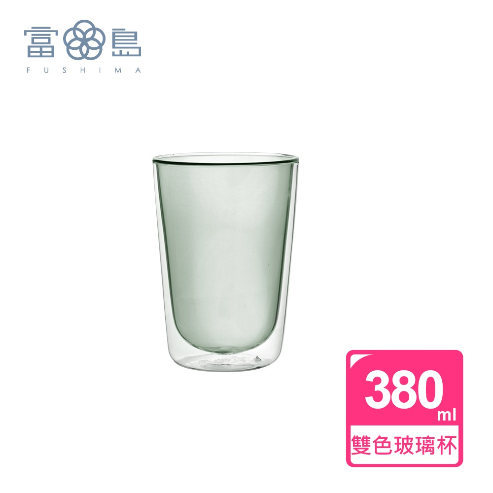 【FUSHIMA 富島】Addicted系列-雙層玻璃杯380ML-時尚貴族黑