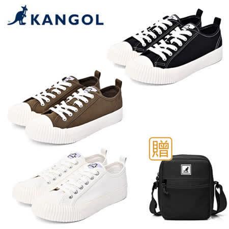 KANGOL 休閒帆布鞋-共三色