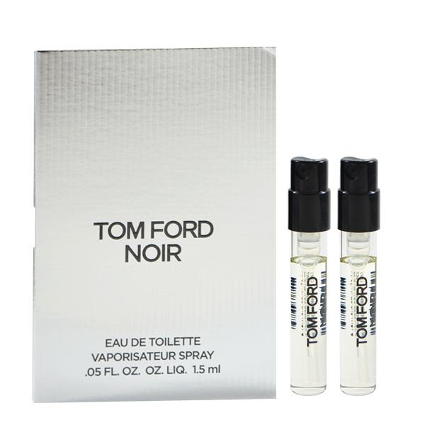 Tom Ford 催情男士淡香水 1.5ml Noir EDT 針管小香 兩入組 (銀色)