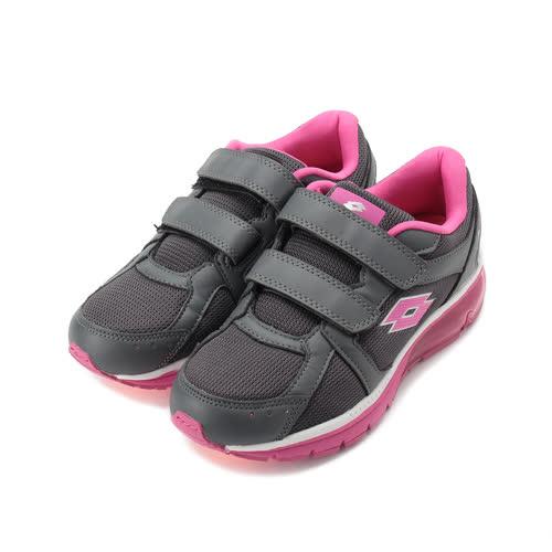 LOTTO 雙魔鬼氈氣墊健走鞋 灰粉紅 LT9AWR0878 女鞋 鞋全家福