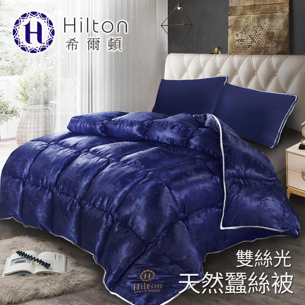 【Hilton希爾頓】 拜占庭雙絲光天然蠶絲被2.5KG/ 藍(B0841-N25)