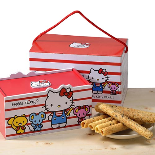 Hello kitty芝麻蛋捲-麻吉禮盒12盒