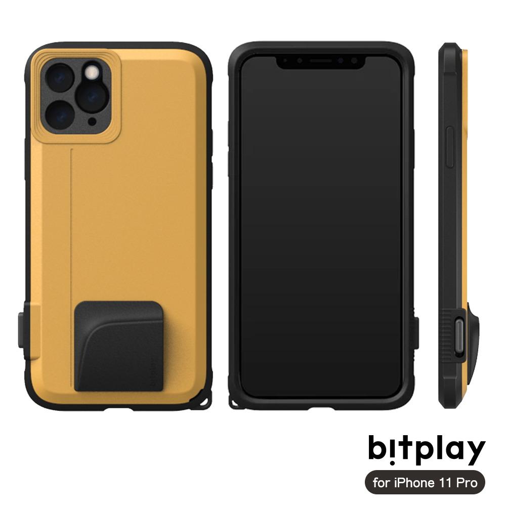 bitplay SNAP! iPhone 11 Pro(5.8吋)專用 喀擦一鍵即拍相機快門鍵全包覆軍規防摔相機殼 ▲Yellow黃