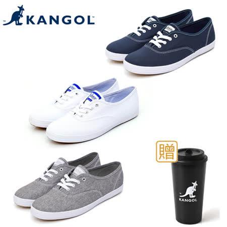 KANGOL 經典款帆布鞋-三色