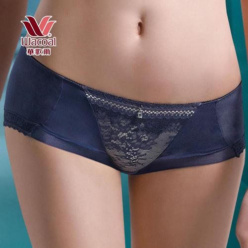 華歌爾-深V COOL性感M-LL中低腰平口褲(湛海藍)