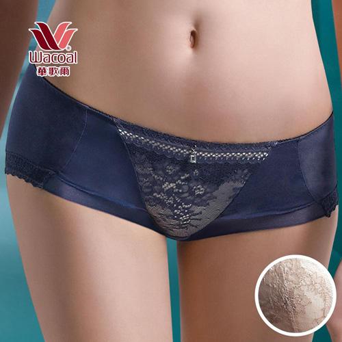華歌爾-深V COOL性感M-LL中低腰平口褲(知性褐)
