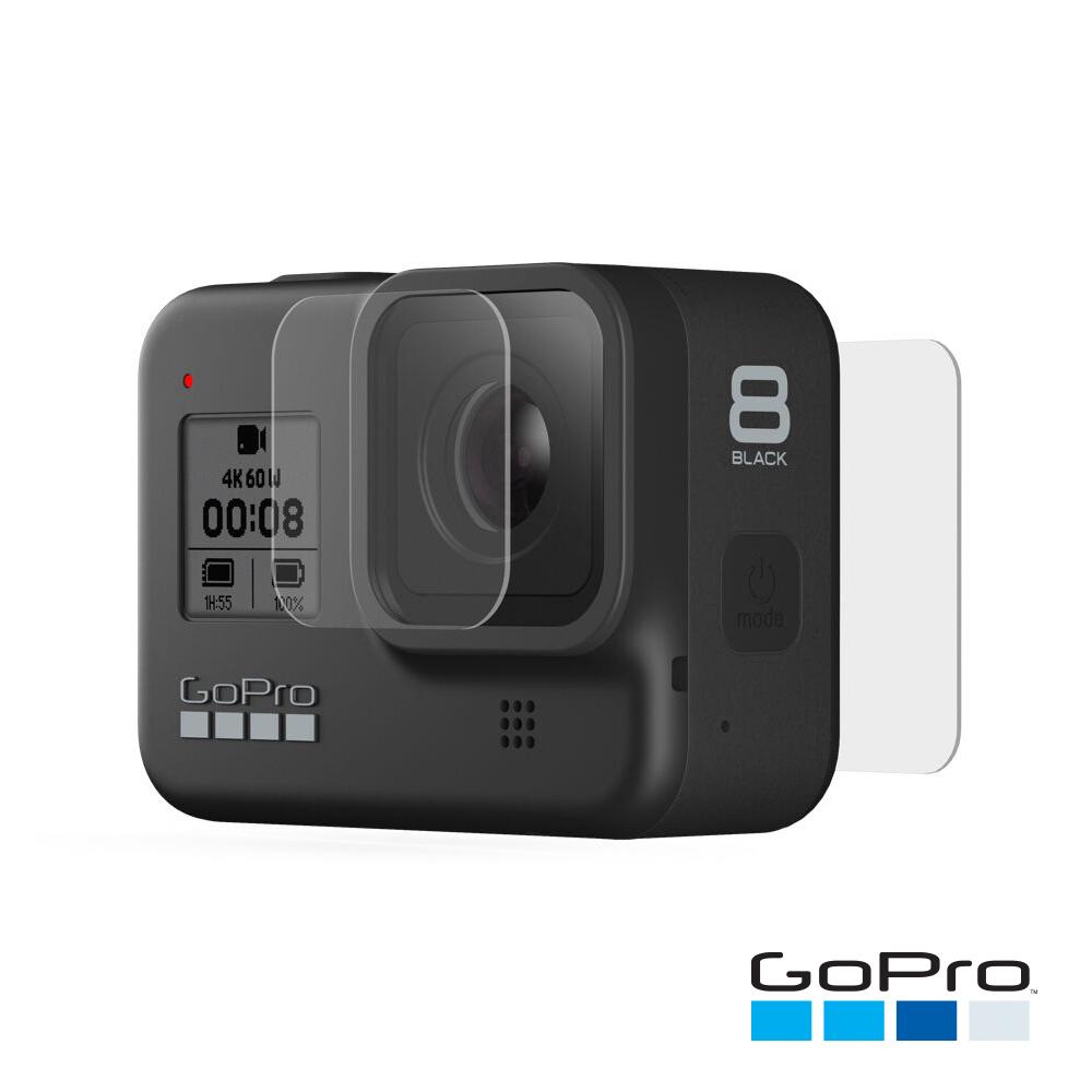 【GoPro】HERO8 Black強化玻璃鏡頭+螢幕保護貼AJPTC-001(忠欣公司貨)