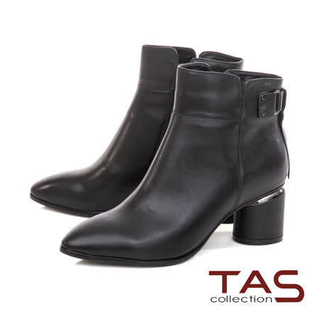 TAS品牌滿2千折2百 後流蘇綁帶牛皮短靴