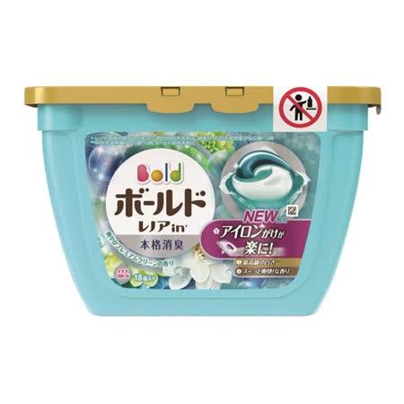 買一送一【P&G】3D洗衣球(粉藍)白葉花香18入