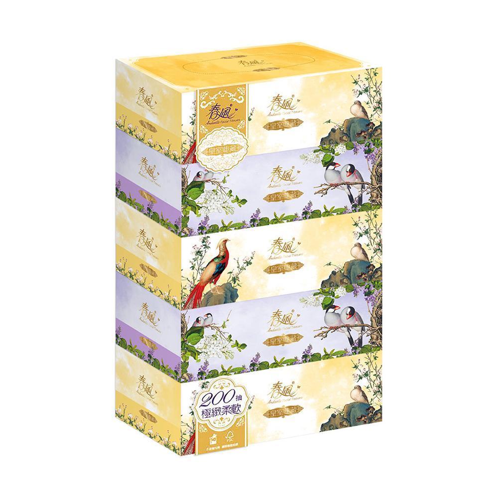 【春風】皇室典藏盒裝面紙200抽x5盒x10串