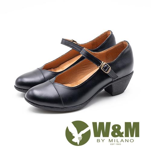 W&M 古典扣飾瑪麗珍跟鞋 娃娃鞋 女鞋 - 黑(另有可可)