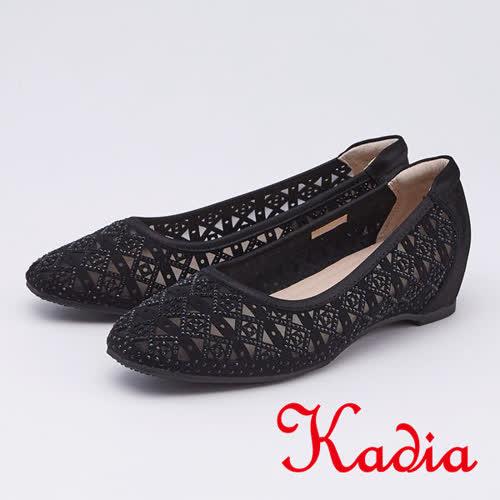 kadia.華麗水鑽簍空包鞋(9511-91黑色)