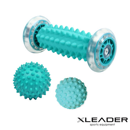 Leader X 美體紓壓  手足部滾輪筋膜球3件組