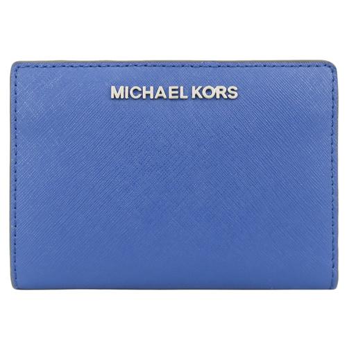 MICHAEL KORS 防刮卡片零錢夾(附名片夾)-寶石藍