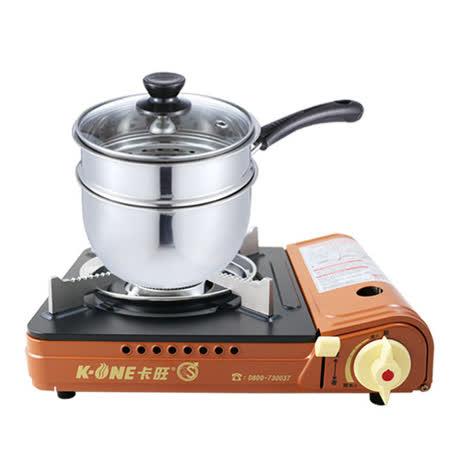 卡旺雙安全卡式爐 +鵝頭牌鍋組
